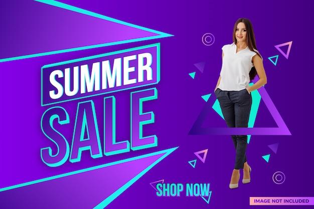 Design de banner de venda de verão