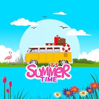 Design de banner de verão