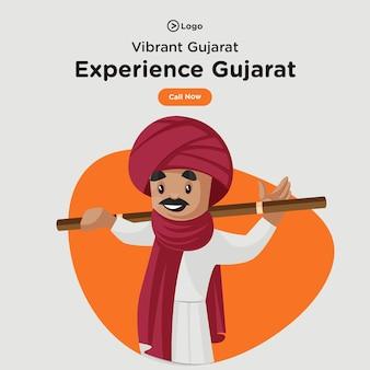 Design de banner de visita e experiência gujarat
