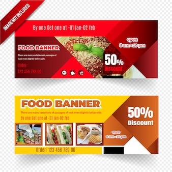 Design de banner de web de alimentos
