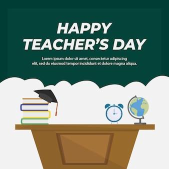 Design de banner do modelo de feliz dia dos professores