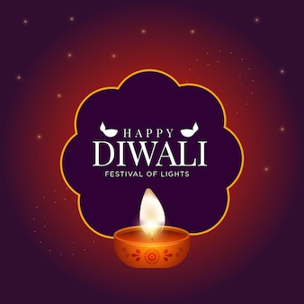 Design de banner do modelo do feliz festival indiano diwali