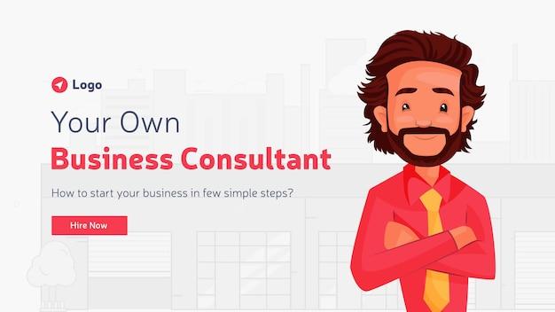 Design de banner do seu próprio modelo de consultor de negócios