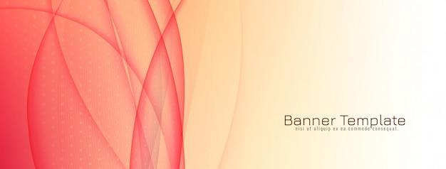 Design de banner elegante onda elegante