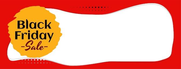 Design de banner elegante para venda na black friday