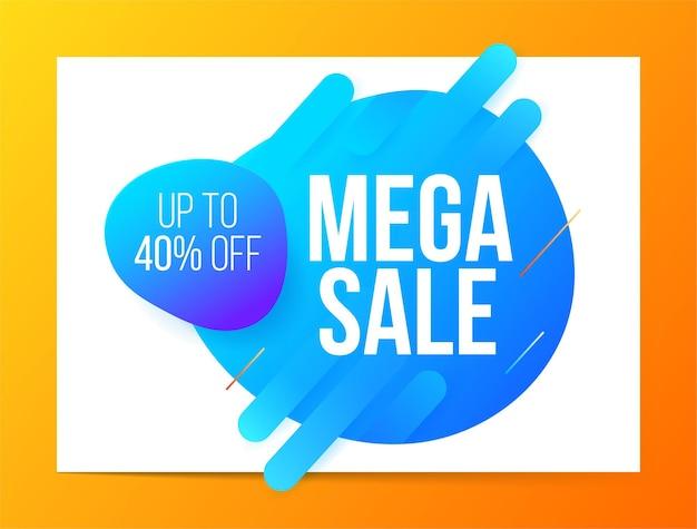 Design de banner em estilo moderno para mega venda