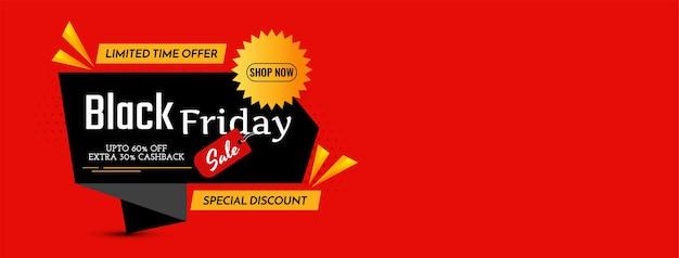 Design de banner em estilo origami de venda na sexta-feira negra