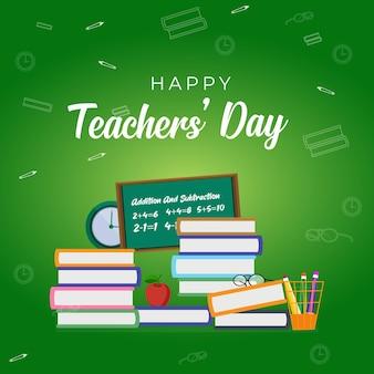Design de banner feliz dia do professor