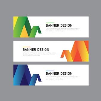Design de banner geométrico