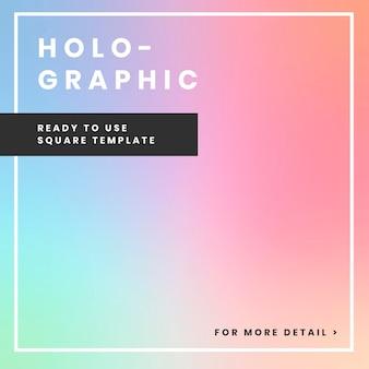 Design de banner holográfico do site