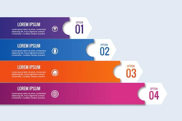 Design de banner infográfico empresarial moderno