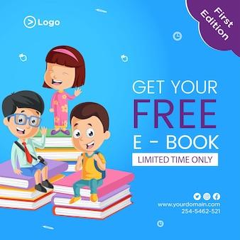 Design de banner para obter seu modelo de e-book grátis