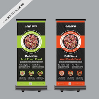 Design de banner para rolo de comida