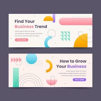 Design de banner plano amplie seus negócios