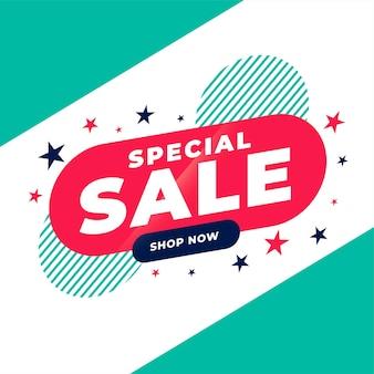 Design de banner plano promocional de venda especial