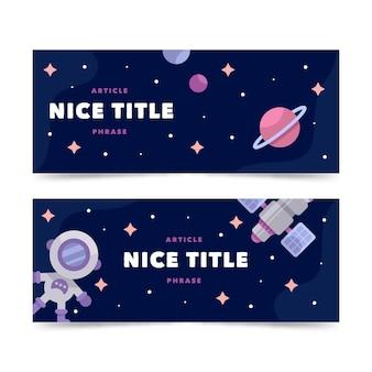 Design de banner plano