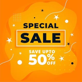 Design de banner promocional amarelo de venda especial
