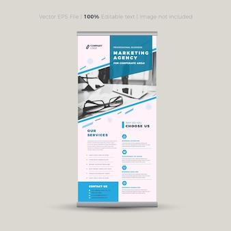 Design de banner rollup banner vertical sinalização vertical design de pôster