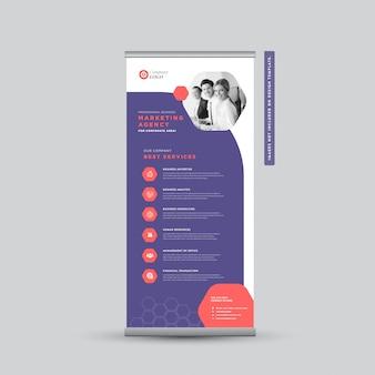 Design de banner rollup de negócios corporativos   banner de pé   sinalização vertical   design de cartaz