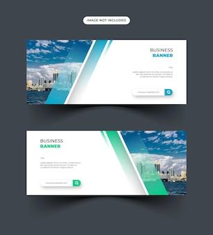 Design de banner simples e moderno para uso em redes sociais