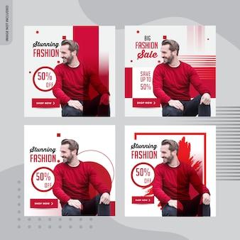 Design de banner social de grande moda venda