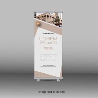 Design de banner standee de rollup empresarial moderno