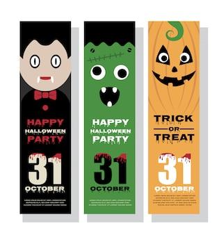 Design de banner vertical de halloween