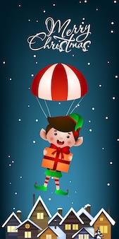 Design de banner vertical de natal
