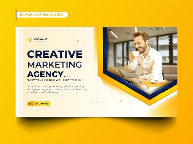 Design de banner web para agência de marketing digital empresarial
