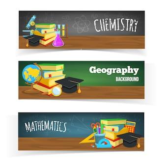 Design de banners de educação