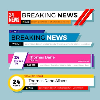 Design de banners de notícias de última hora