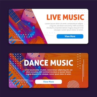 Design de banners do music fest