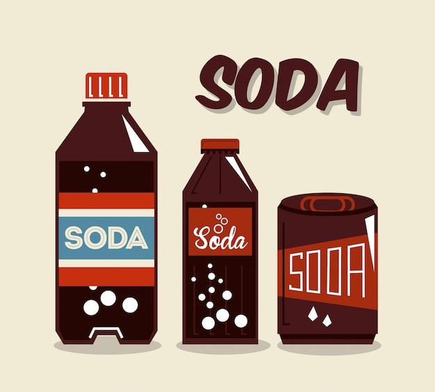 Design de bebidas sobre ilustração vetorial de fundo bege