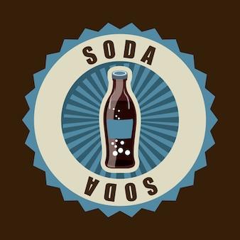Design de bebidas sobre ilustração vetorial de fundo marrom