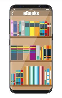 Design de biblioteca de ebooks para smartphones