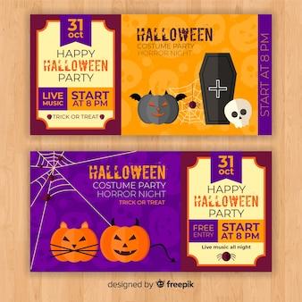 Design de bilhetes de halloween