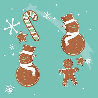 Design de biscoitos de natal
