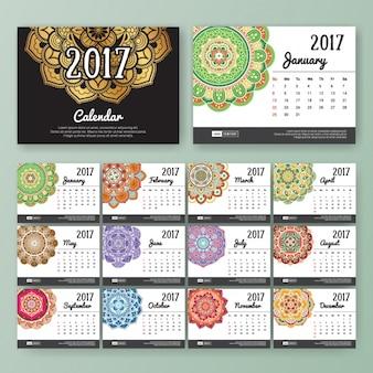 Design de boho calendário do estilo
