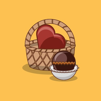 Design de bombons de chocolate
