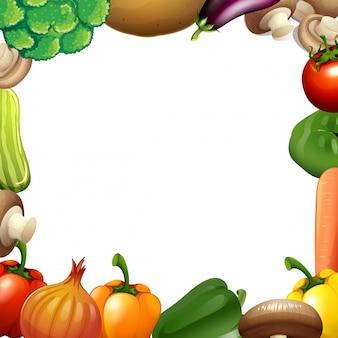 Design de borda com vegetais misturados