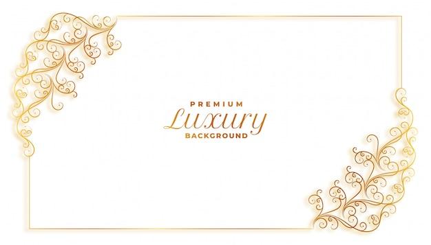 Design de borda de decoração elegante moldura floral floral