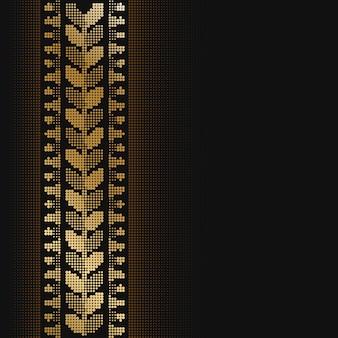 Design de borda de meio-tom monocromático