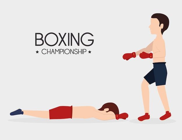 Design de boxe.