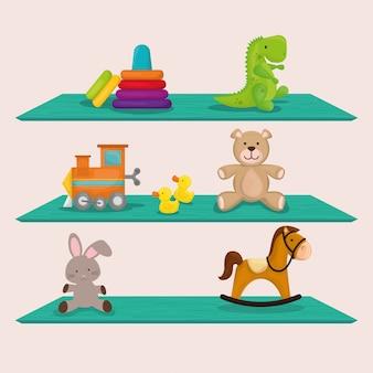 Design de brinquedos de bebê.