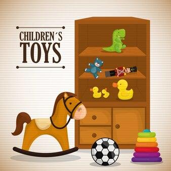 Design de brinquedos do bebê.