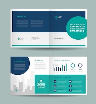 Design de brochura bi-fold de negócios corporativos | design de livretos | documento financeiro e de marketing