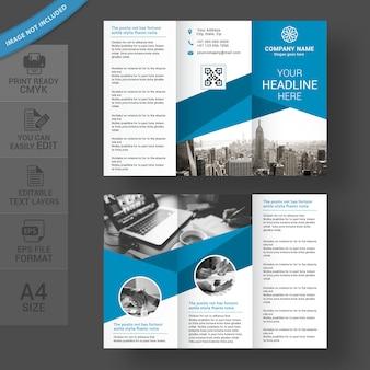 Design de brochura com três dobras corporativas