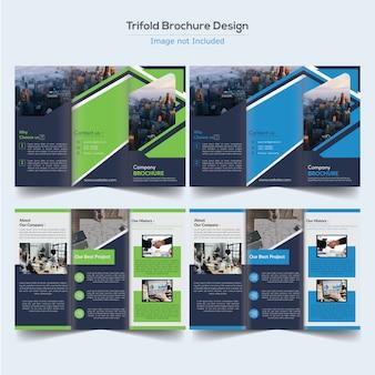 Design de brochura com três dobras corporativo