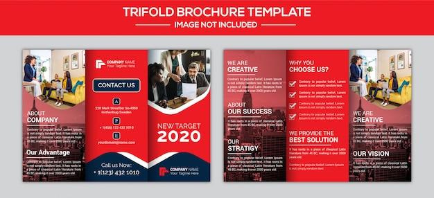Design de brochura com três dobras de negócios corporativos