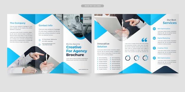 Design de brochura com três dobras de negócios
